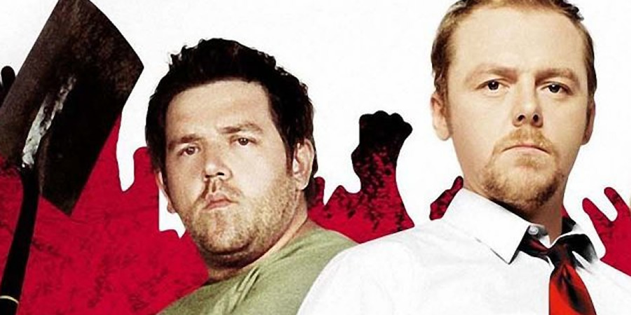 Shaun Of The Dead. Image shows from L to R: Ed (Nick Frost), Shaun (Simon Pegg). Copyright: Working Title Films.