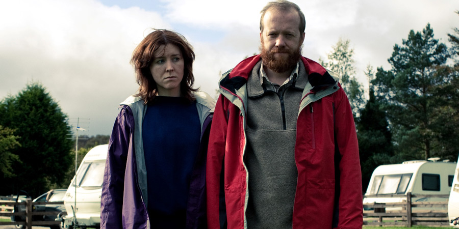 Sightseers. Image shows from L to R: Tina (Alice Lowe), Chris (Steve Oram). Copyright: STUDIOCANAL.