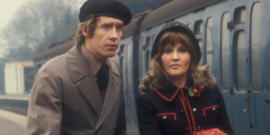Some Mothers Do 'Ave 'Em. Image shows from L to R: Frank Spencer (Michael Crawford), Betty Spencer (Michele Dotrice). Copyright: BBC.