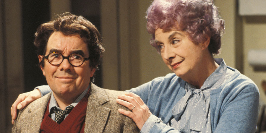 Sorry!. Image shows from L to R: Timothy Lumsden (Ronnie Corbett), Phyllis Lumsden (Barbara Lott). Copyright: BBC.