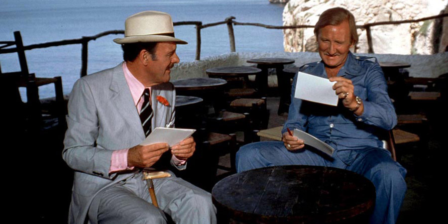 Spanish Fly. Image shows from L to R: Sir Percy de Courcy (Terry-Thomas), Mike Scott (Leslie Phillips). Copyright: Impact Quadrant-Quadrant Films.