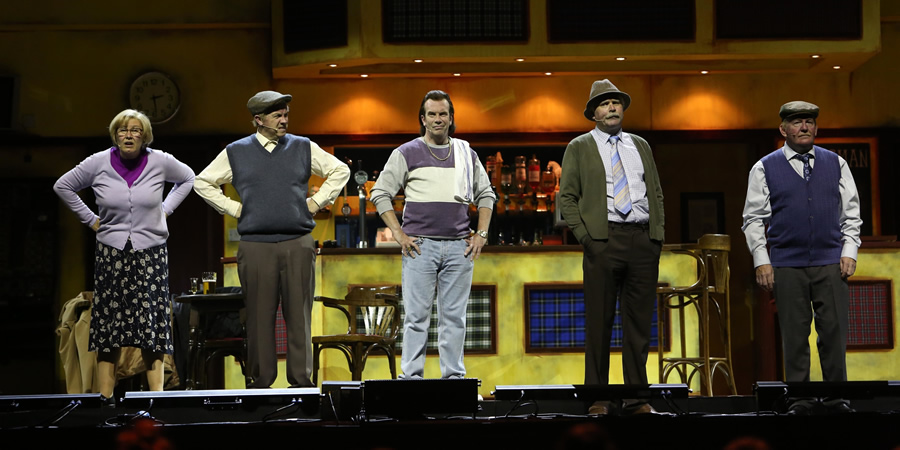 Still Game Live. Image shows from L to R: Isa Drennan (Jane McCarry), Tam Mullen (Mark Cox), Boaby (Gavin Mitchell), Victor McDade (Greg Hemphill), Jack Jarvis (Ford Kiernan).