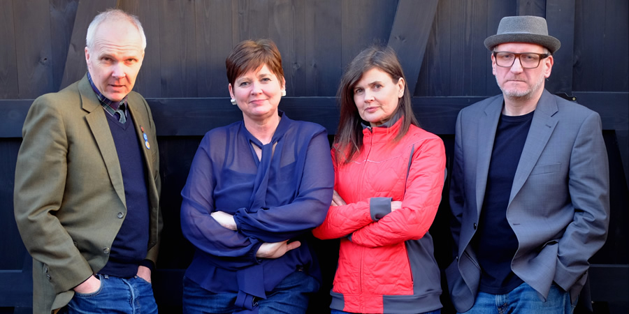 Image shows from L to R: Trevor Neal, Clare Eden, Sophie Aldred, Simon Hickson.