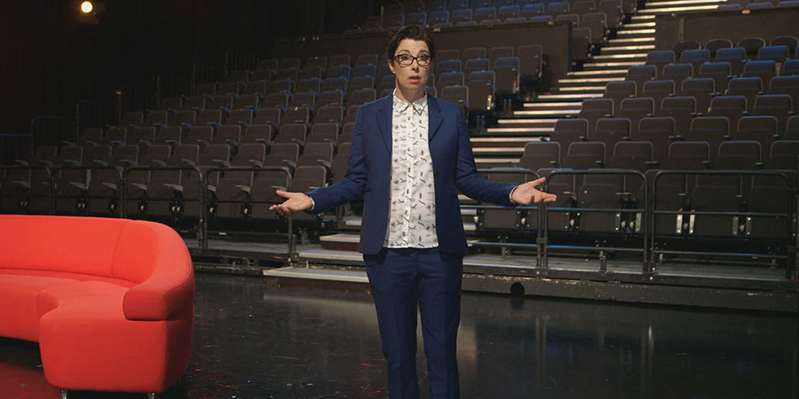 Sue Perkins' Comedy Greats: The Entertainers. Sue Perkins. Copyright: ITN.