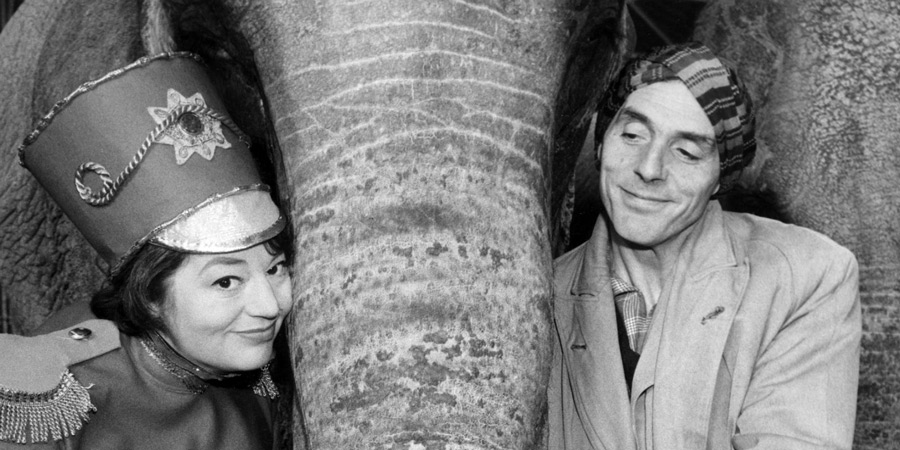 Sykes And A.... Image shows from L to R: Hat (Hattie Jacques), Eric (Eric Sykes). Copyright: BBC.