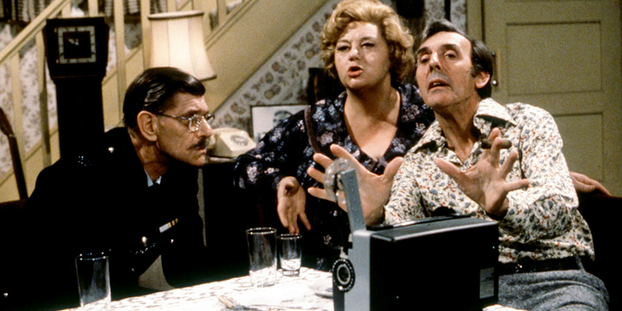 Sykes. Image shows from L to R: Corky (Deryck Guyler), Hattie (Hattie Jacques), Eric (Eric Sykes). Copyright: BBC.