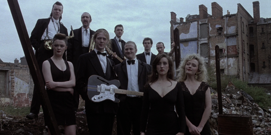 The Commitments. Image shows from L to R: Dean Fay (Félim Gormley), Bernie McGloughlin (Bronagh Gallagher), Joey