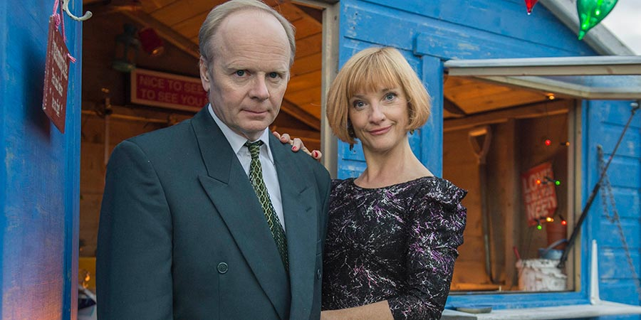 The Cruise. Image shows from L to R: Andy (Jason Watkins), Jacky (Jane Horrocks). Copyright: Emu Films.