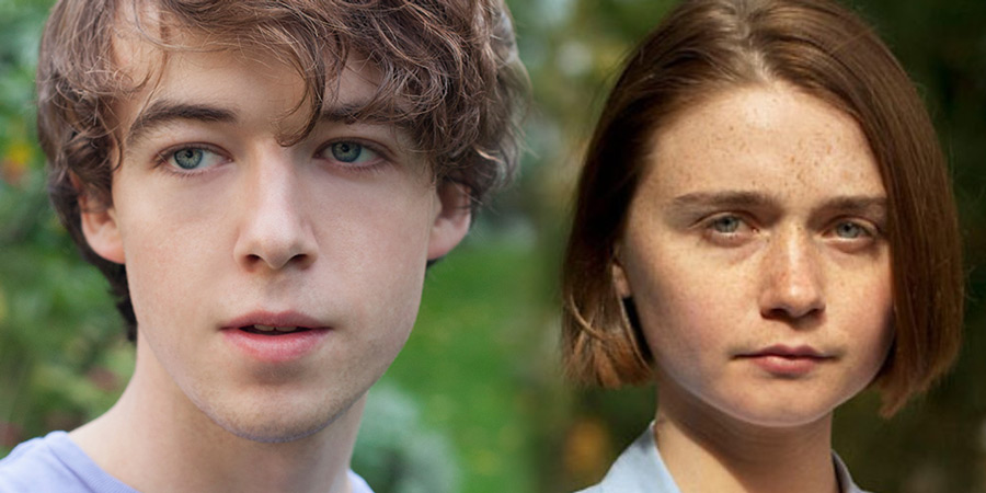 Image shows from L to R: Alex Lawther, Jessica Barden.