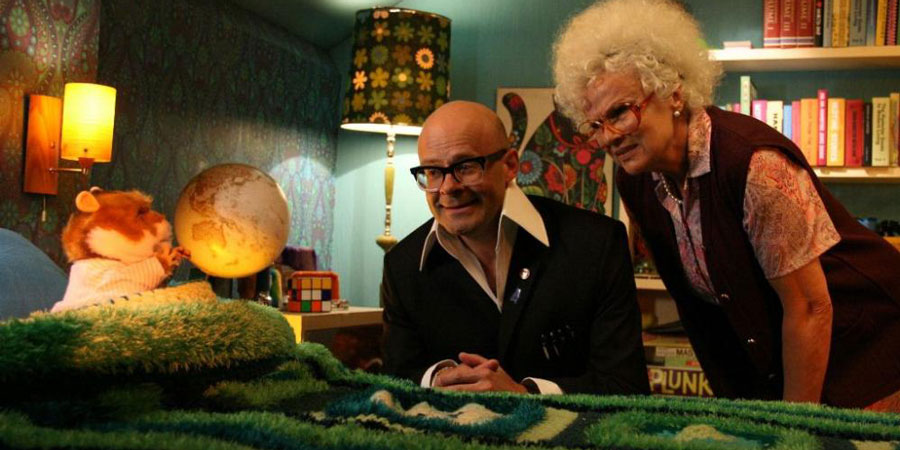 The Harry Hill Movie. Image shows from L to R: Harry Hill (Harry Hill), Nan (Julie Walters). Copyright: Lucky Features.