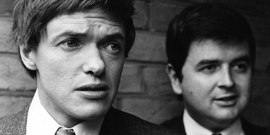 The Likely Lads. Image shows from L to R: Terry Collier (James Bolam), Bob Ferris (Rodney Bewes). Copyright: BBC.