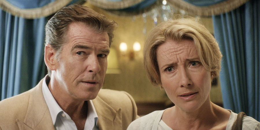 The Love Punch. Image shows from L to R: Richard (Pierce Brosnan), Kate (Emma Thompson).