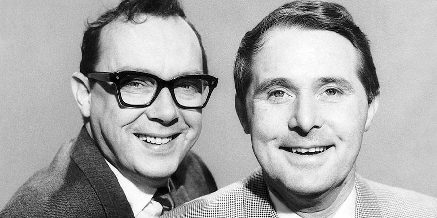 The Morecambe & Sage Salon.  Image shows L to R: Eric Morecambe, Ernie Wise.  Copyright: BBC.