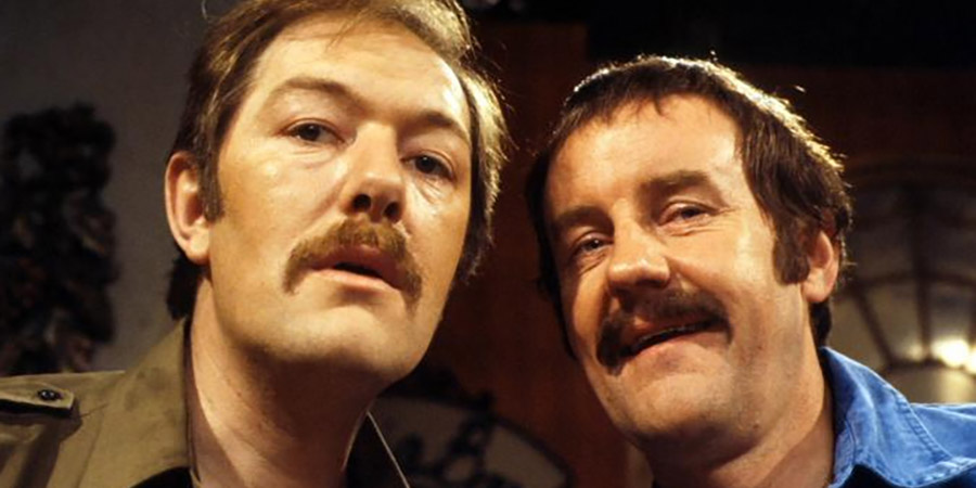 The Other One. Image shows from L to R: Brian Bryant (Michael Gambon), Ralph Tanner (Richard Briers). Copyright: BBC.