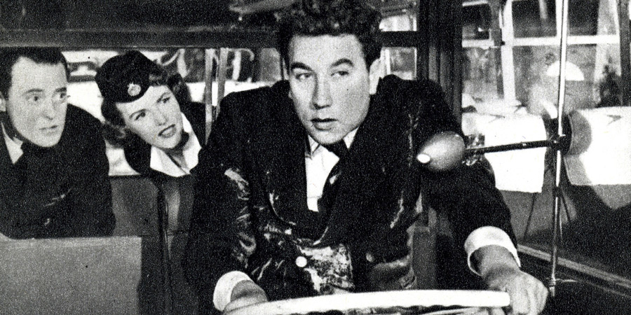 The Runaway Bus. Image shows from L to R: Peter Jones (Terence Alexander), Lee Nicholls (Petula Clark), Percy Lamb (Frankie Howerd). Copyright: Val Guest Productions.