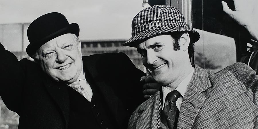 The Strange Case Of The End Of Civilisation As We Know It. Image shows from L to R: Dr. W. Watson (Arthur Lowe), A. Sherlock-Holmes (John Cleese). Copyright: London Weekend Television.