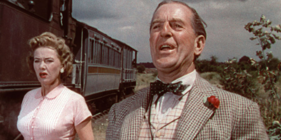 The Titfield Thunderbolt. Image shows from L to R: Joan (Gabrielle Brune), Valentine (Stanley Holloway). Copyright: Ealing Studios.