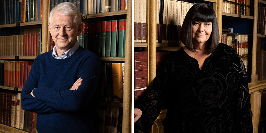 The Vicar Of Dibley: Inside Out. Image shows from L to R: Richard Curtis, Dawn French. Copyright: UKTV.