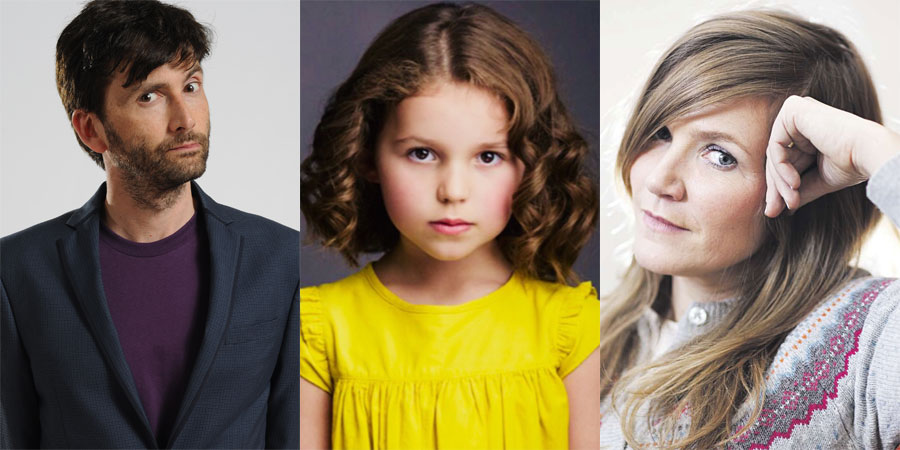 There She Goes. Image shows from L to R: Simon (David Tennant), Rosie (Miley Locke), Emily (Jessica Hynes).