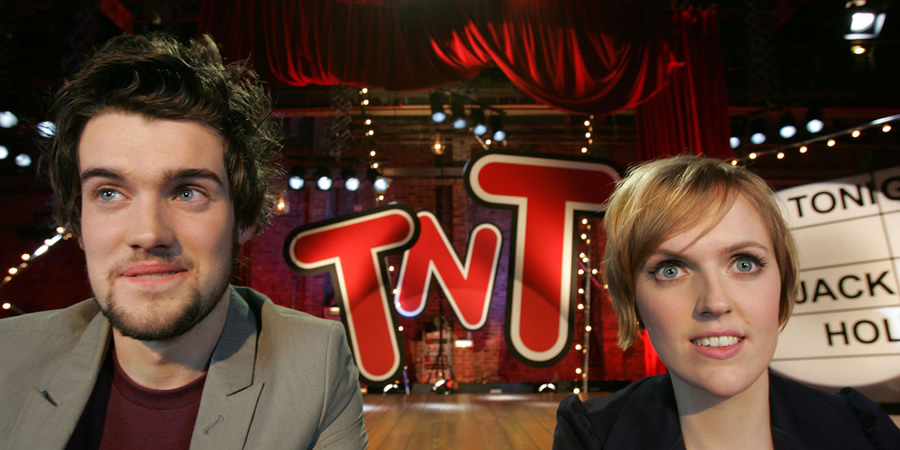 TNT Show. Image shows from L to R: Jack Whitehall, Holly Walsh. Copyright: Objective Productions.