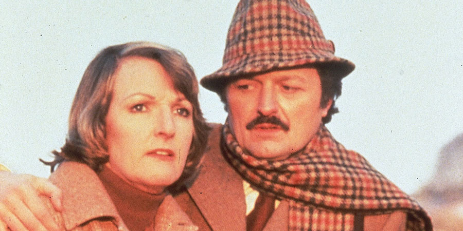 To The Manor Born. Image shows from L to R: Audrey fforbes-Hamilton (Penelope Keith), Richard DeVere (Peter Bowles). Copyright: BBC.
