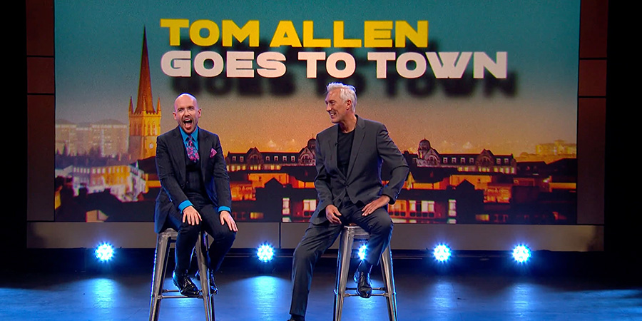 Tom Allen Goes To Town. Image shows from L to R: Tom Allen, Martin Kemp. Copyright: Rumpus Media.
