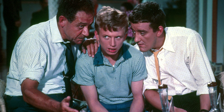 Tommy The Toreador. Image shows from L to R: Cadena (Sid James), Tommy Tomkins (Tommy Steele), Paco (Bernard Cribbins).