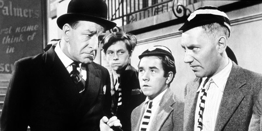 Top Of The Form. Image shows from L to R: Professor Fortescue (Ronald Shiner), Unknown, Aloof Student (Ronnie Corbett), Arty Jones (Alfie Bass). Copyright: Rank Organisation.