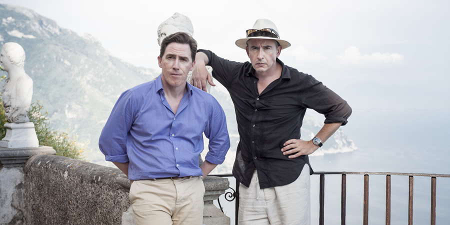 The Trip. Image shows from L to R: Rob (Rob Brydon), Steve (Steve Coogan). Copyright: Baby Cow Productions / Arbie.