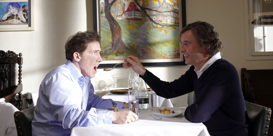 The Trip. Image shows from L to R: Rob (Rob Brydon), Steve (Steve Coogan).