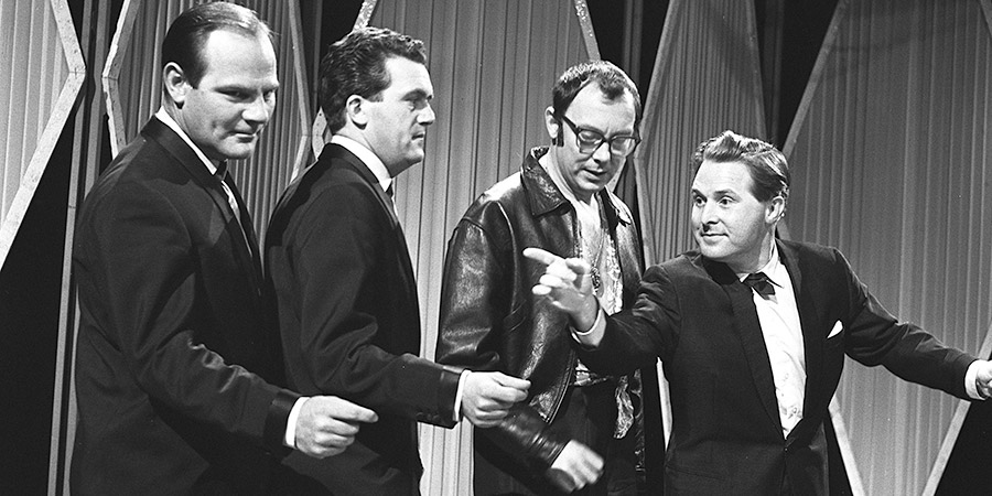 Two Of A Kind. Image shows from L to R: Dick (Dick Hills), Sid (Sid Green), Eric Morecambe, Ernie Wise. Copyright: Associated Television.