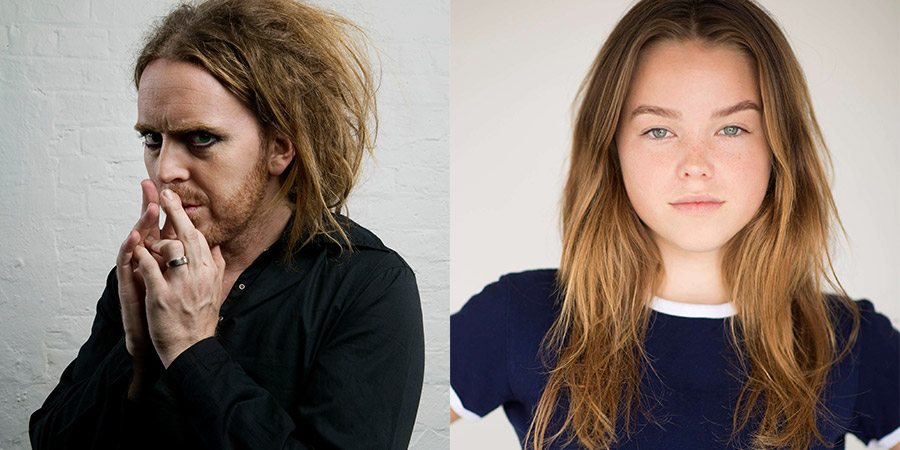 Image shows from L to R: Tim Minchin, Milly Alcock.