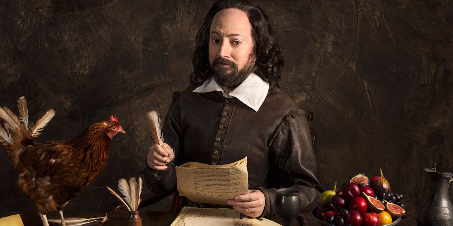 Upstart Crow. Will Shakespeare (David Mitchell). Copyright: BBC.