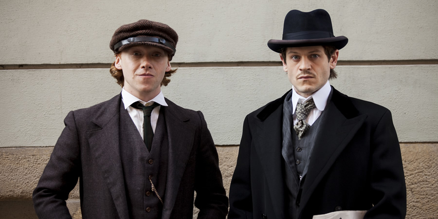 Urban Myths: Adolf Hitler The Artist. Image shows from L to R: August Kubizek (Rupert Grint), Adolf Hitler (Iwan Rheon).