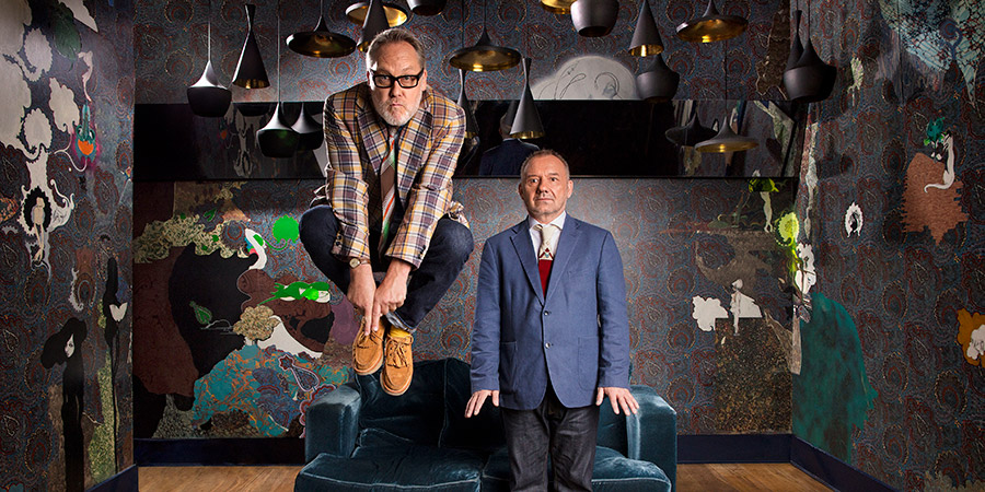 Vic & Bob's Big Night Out. Image shows from L to R: Vic Reeves, Bob Mortimer. Copyright: BBC.