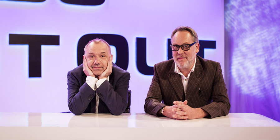 Vic & Bob's Big Night Out. Image shows from L to R: Bob Mortimer, Vic Reeves. Copyright: BBC.