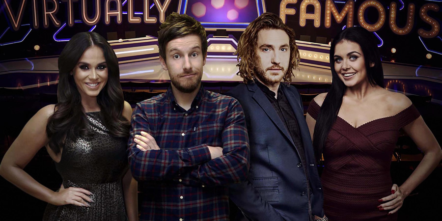 Virtually Famous. Image shows from L to R: Vicky Pattison, Chris Ramsey, Seann Walsh, Scarlett Moffatt.