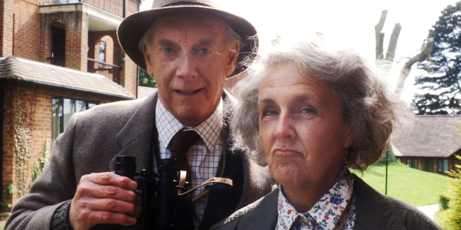 Waiting For God. Image shows from L to R: Tom Ballard (Graham Crowden), Diana Trent (Stephanie Cole). Copyright: BBC.