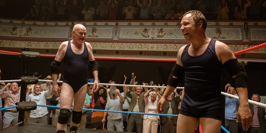 Walk Like A Panther. Image shows from L to R: Trevor 'Bulldog' Bolton (Dave Johns), Mark Bolton  (Stephen Graham).
