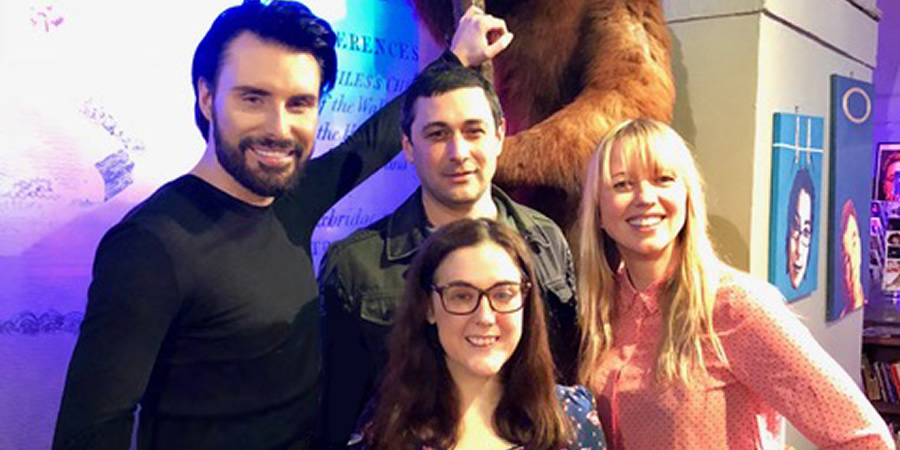 What If...?. Image shows from L to R: Rylan Clark-Neal, Adam Rutherford, Grainne Maguire, Sara Cox.