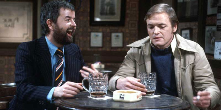 Whatever Happened To The Likely Lads?. Image shows from L to R: Bob Ferris (Rodney Bewes), Terry Collier (James Bolam). Copyright: BBC.