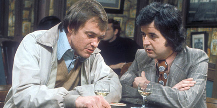 Whatever Happened To The Likely Lads?. Image shows from L to R: Terry Collier (James Bolam), Bob Ferris (Rodney Bewes). Copyright: BBC.