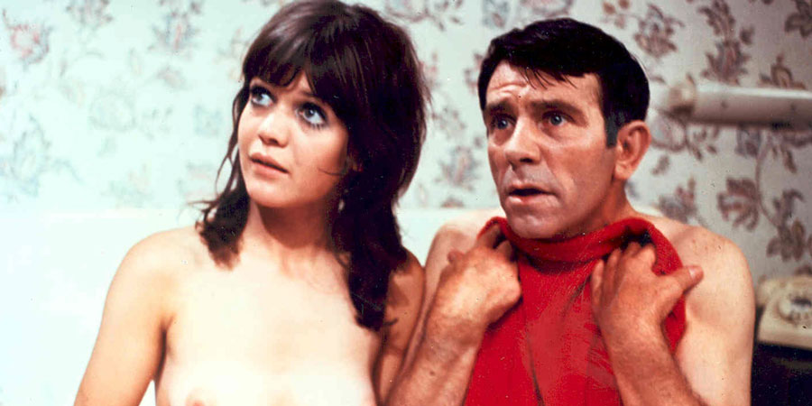 What's Good For The Goose. Image shows from L to R: Nikki (Sally Geeson), Timothy Bartlett (Norman Wisdom).