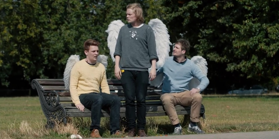 Winging It. Image shows from L to R: Joe (Joe Barnes), Thomas (Thomas Gray), Henry (Henry Perryment).