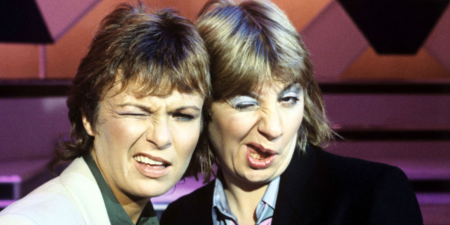 Wood And Walters. Image shows from L to R: Julie Walters, Victoria Wood. Copyright: Granada Television.