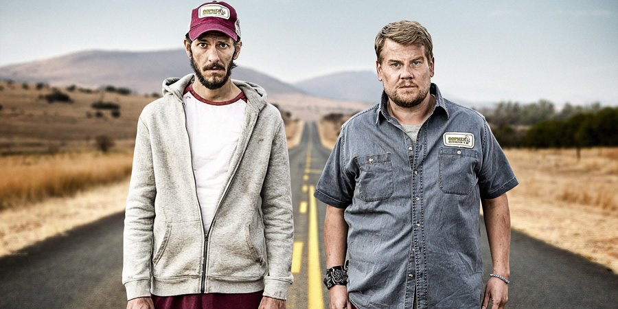 The Wrong Mans. Image shows from L to R: Sam (Mathew Baynton), Phil (James Corden).