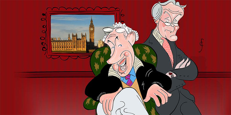 Clive Francis's cartoon of Jim Hacker and Humphrey Appleby.