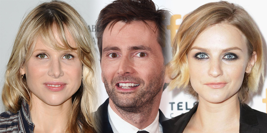 You, Me And Him. Image shows from L to R: Olivia (Lucy Punch), John (David Tennant), Alex (Faye Marsay).