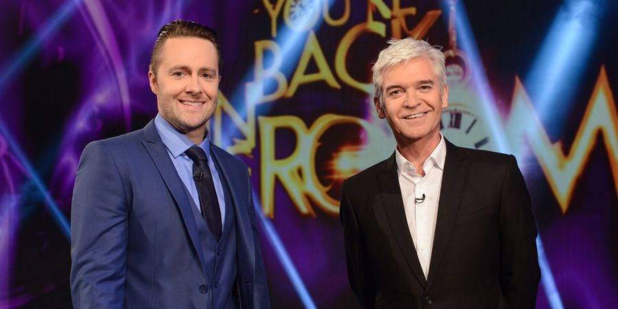 You're Back In The Room. Image shows from L to R: Keith Barry, Phillip Schofield. Copyright: Tuesday's Child.