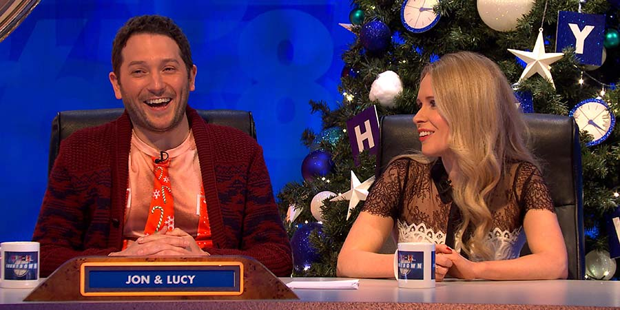 8 Out Of 10 Cats Does Countdown. Image shows from L to R: Jon Richardson, Lucy Beaumont. Copyright: Endemol UK.